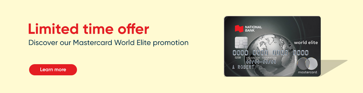 Limited time offer Mastercard World-Elite